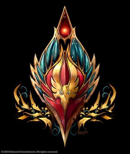 World of Warcraft wallpaper titled Blood Elf Crest