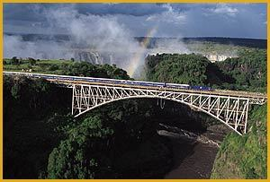 Blue Train at Victoria Falls