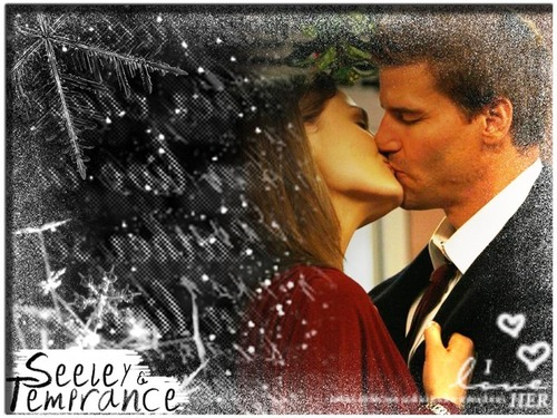Famous Kisses wallpaper entitled Booth & Brennan
