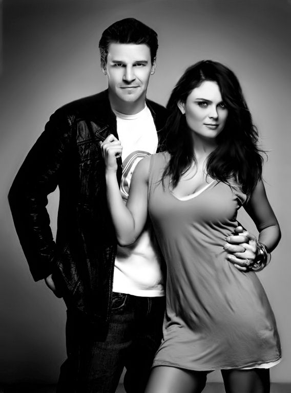 David Boreanaz And Emily Deschanel Photo Shoot