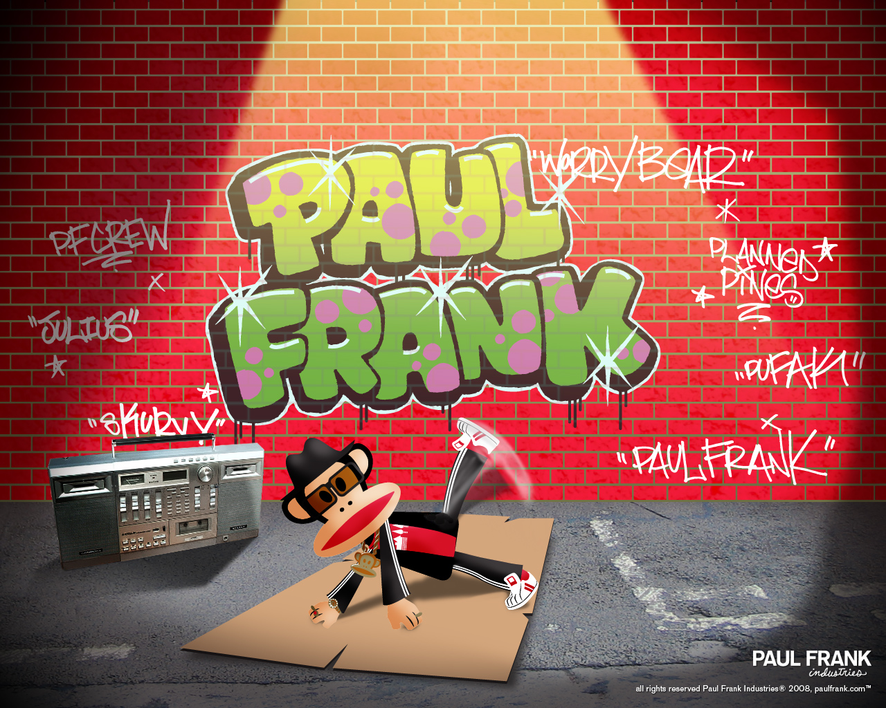 Breakdancing Julius - Paul Frank Wallpaper (764698) - Fanpop