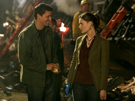 Booth And Brennan. Bones – While I was still