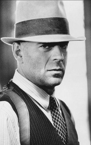 Bruce Willis with a hat.