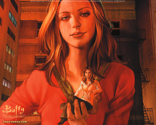 Buffyverse Comics achtergrond entitled Buffy Comic Art