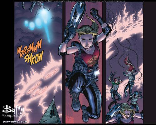 Buffyverse Comics achtergrond titled Buffy Comic Art