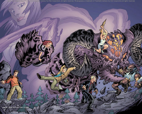 Buffyverse Comics achtergrond entitled Buffy Comic Art