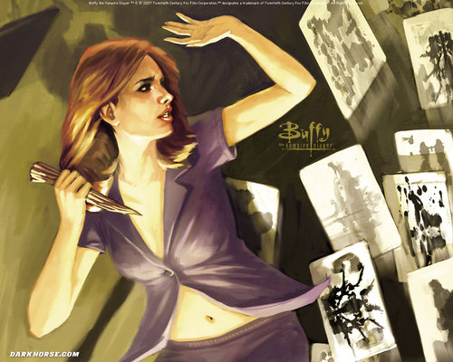 Buffyverse Comics achtergrond called Buffy Comic Art