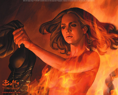 Buffyverse Comics দেওয়ালপত্র called Buffy Comic Art
