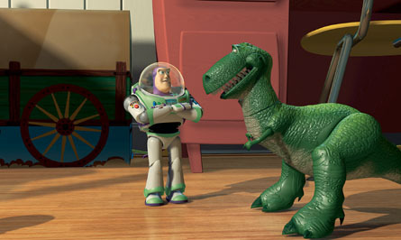 Toy Story پیپر وال entitled Buzz Lightyear & Rex