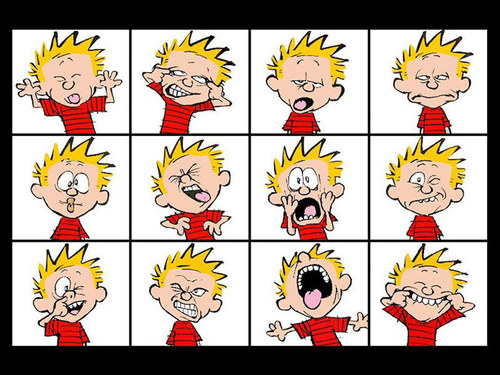 Calvin & Hobbes wallpaper entitled Calvin Faces