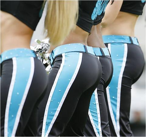 NFL Cheerleaders wallpaper entitled Carolina's Booty