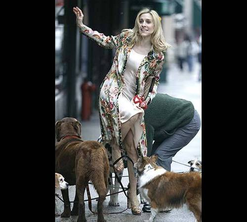 Carrie with chiens