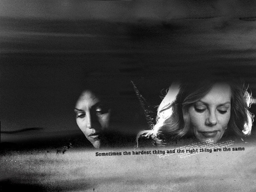 CSI wallpaper called Catherine and Sara