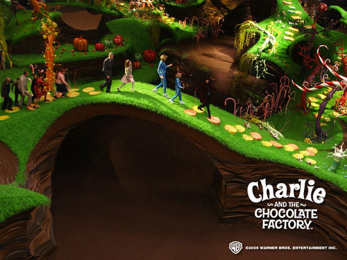 Tim burton achtergrond called Charlie&the Chocolate Factory