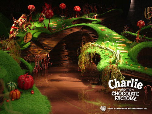 tim burton wallpaper titled Charlie&the chocolate Factory