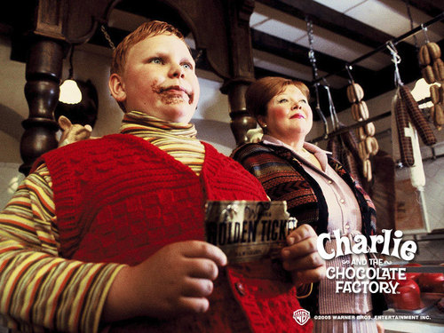 Tim برٹن پیپر وال titled Charlie&the Chocolate Factory