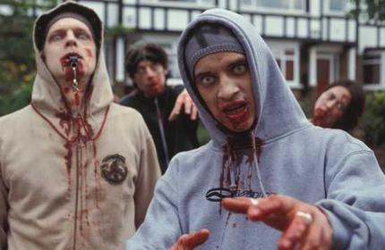 Shaun of the Dead wolpeyper called Chavs of the dead
