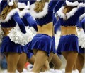 Cheerleaders from the back