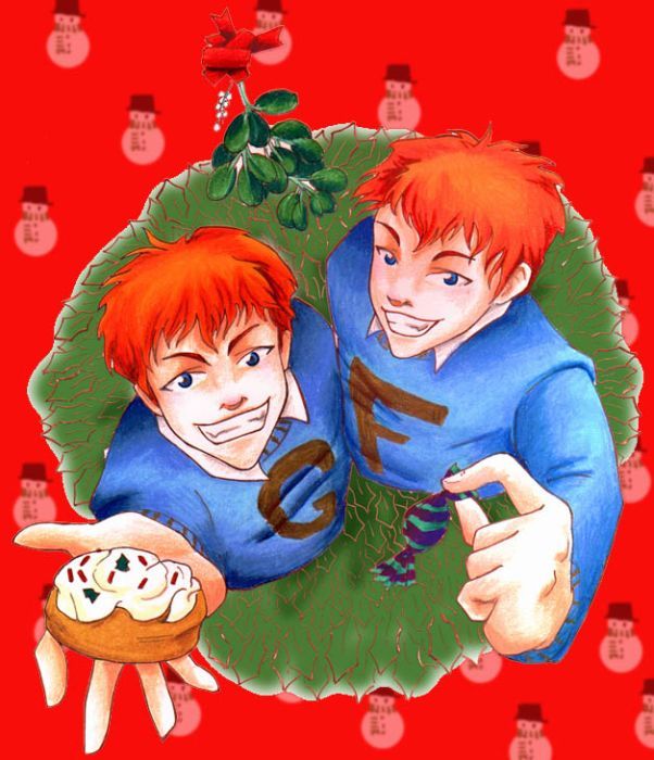 weasleys images christmas fred and george wallpaper and background photos - Fred Christmas