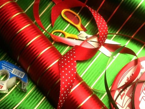 Christmas inpakken, wrap