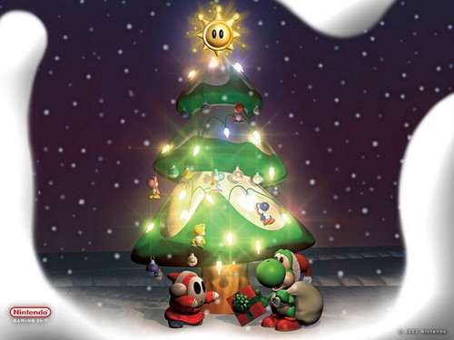 Nintendo wallpaper titled Christmas Yoshi