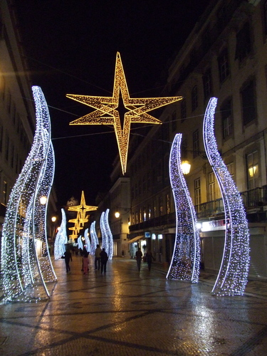 クリスマス decoration in Lisbon