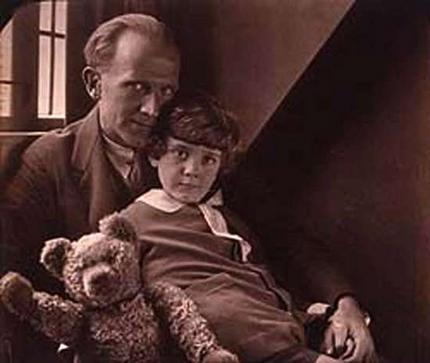 O Ursinho Puff wallpaper titled Christopher Robin & AA Milne
