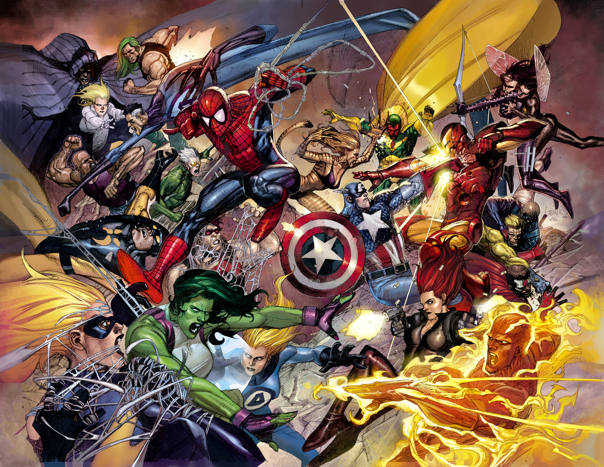 Marvel Civil War Images Battle HD Wallpaper And Background Photos