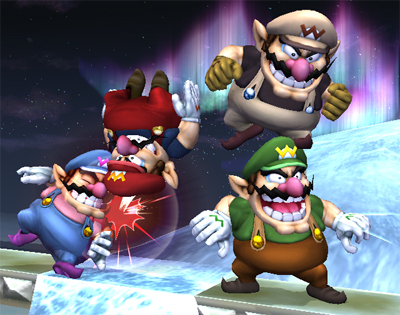Super Smash Bros. Brawl वॉलपेपर titled Classic Wario Overalls