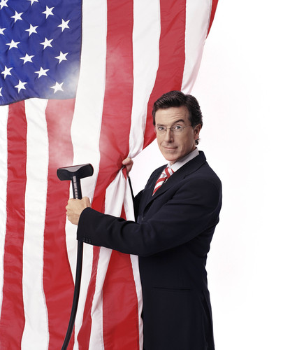 Stephen Colbert wallpaper called Cleaning the Flag