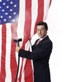 Cleaning the Flag - the-colbert-report photo