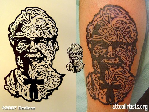 Col. Sanders: made of chickens - tattoos Photo