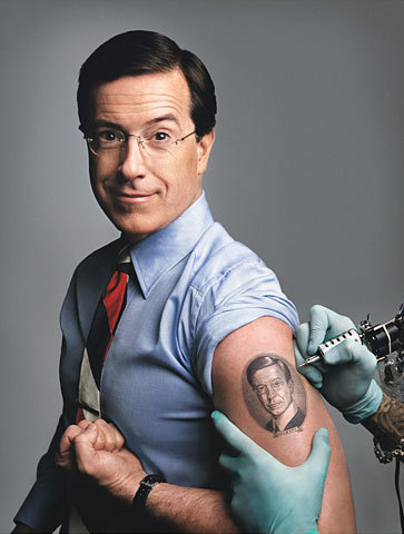 Tattooed Colbert