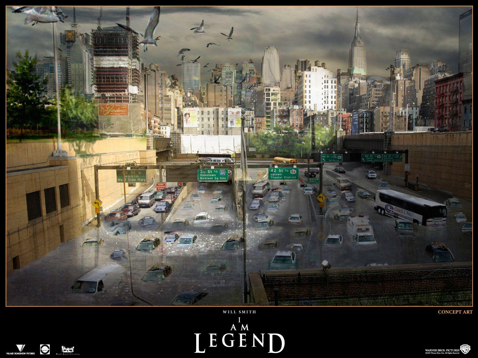 Concept Art - i-am-legend  I Am Legend Wallpaper
