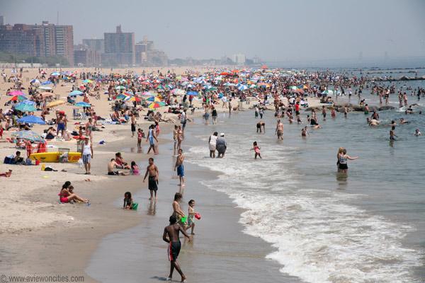 Coney Island пляж, пляжный