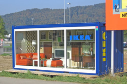 Container ca IKEA-showroom