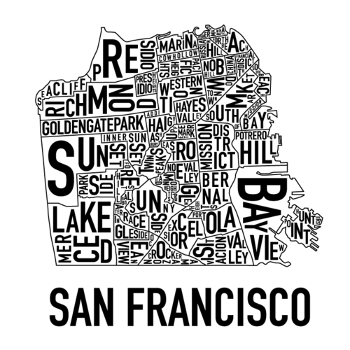 San Francisco images Cool SF Neighborhood Map HD wallpaper and background photos