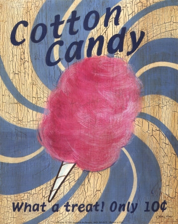 Candy wallpaper entitled Cotton Candy