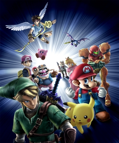 Super Smash Bros. Brawl karatasi la kupamba ukuta called Cover Art