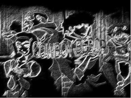 Cowboy Bebop black/white