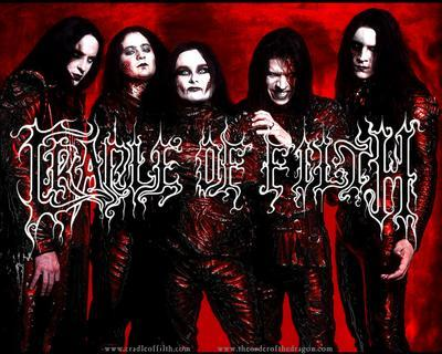 Metal wallpaper titled Cradle of Filth