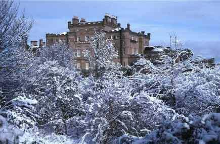 Culzean 성 in Winter