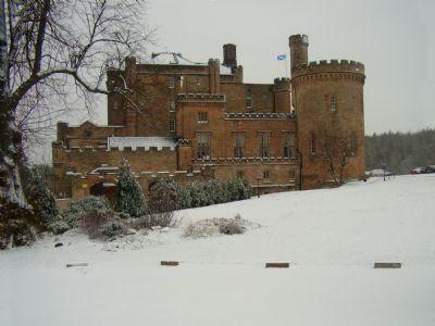 Dalhousie Castle in Winter