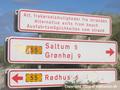 Danish beach sign
