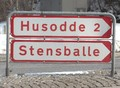 Danish road sign