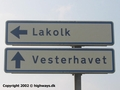 Danish road sign