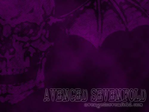 Death Bat Purple - avenged-sevenfold Wallpaper