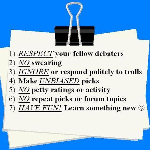 ディベート Rules In A Nutshell