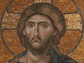 Deesis کاری پچی of Christ,