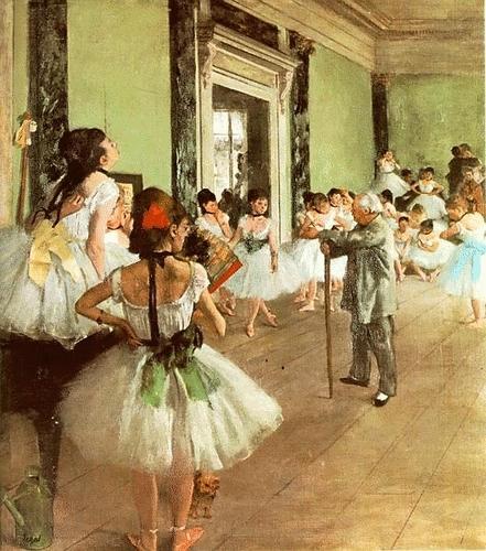 Degas. Dancing class
